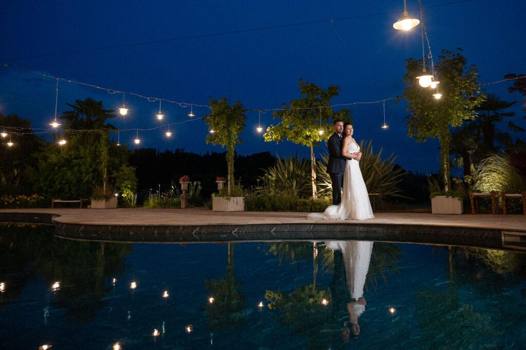 Fotografia di sposi presso Tenuta Serradesca di Marina Acquaroli